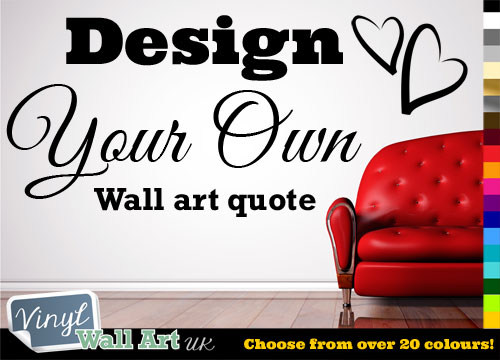 Fully Personalised Custom Vinyl Wall Art Sticker Decal - Design