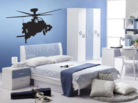 Apache helicopter vinyl wall art decal