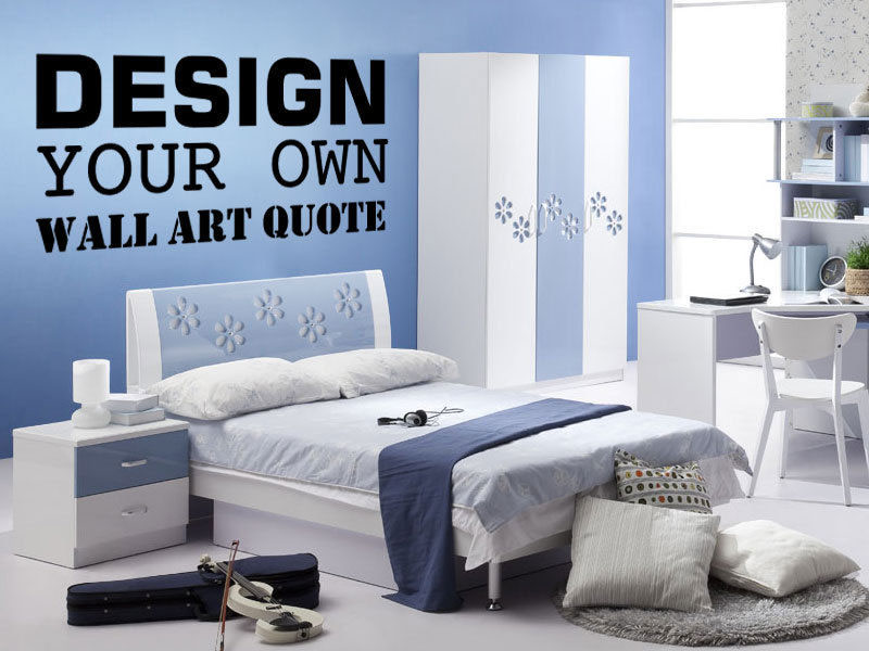 Design your own wall art stickers for Design your own wall mural
