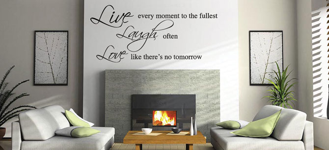 Vinyl wall art stickers for the home